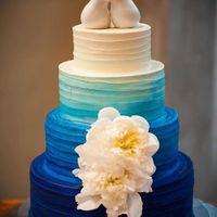 бело - синий торт омбрэ