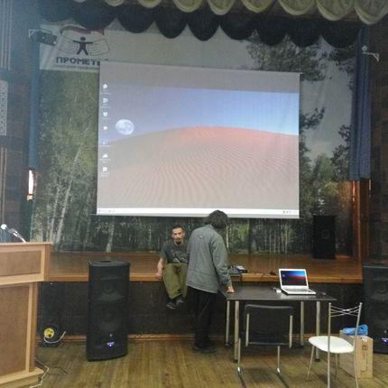 Аренда большого подвесного экрана 5 х 3,75 м.