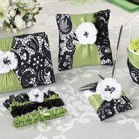 Набор для церемонии бракосочетания зелёно-чёрных тонах