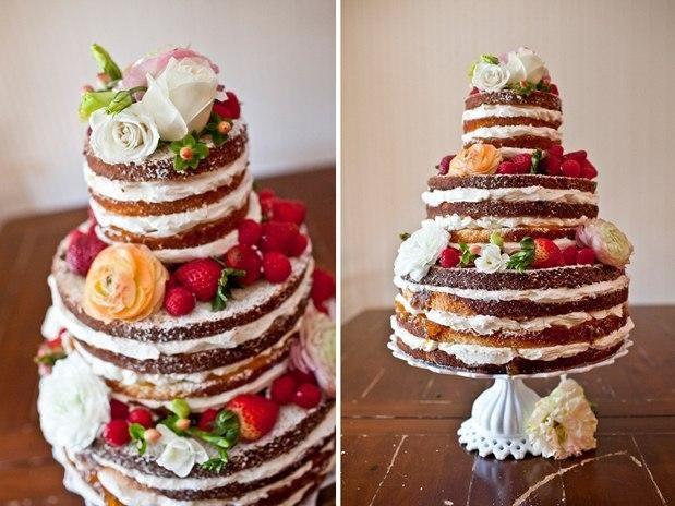 Домашний свадебный торт фото