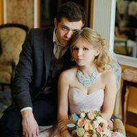 Пудровый букет невесты