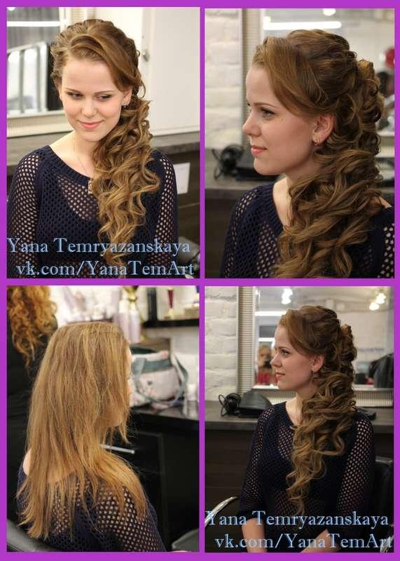 накладные пряди в греческой косе - фото 2678707 Стилист-визажист Темрязанская Яна Владимировна
