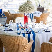 Украшение стола гостей морской свадьбы
