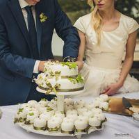 """Свадьба в стиле """"Принцесса на горошине"""", торт."""
