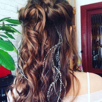 Пёрышки в волосы