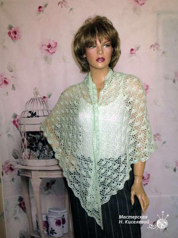 шаль ажурная - фото 10636068 Мастерская Натальи Киселевой - вязание на заказ