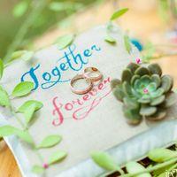 подушечка для акварельной свадьбы  100% handMade by inTropics
