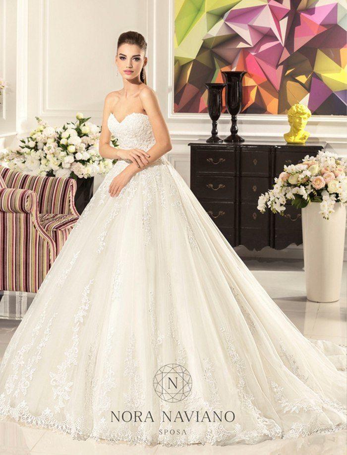 Свадебное платье А-силуэта ТМ Nora Naviano (Италия)    - фото 11391410 Свадебный салон Formarriage