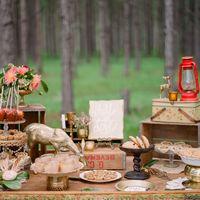Сладкий стол для лесной свадьбы