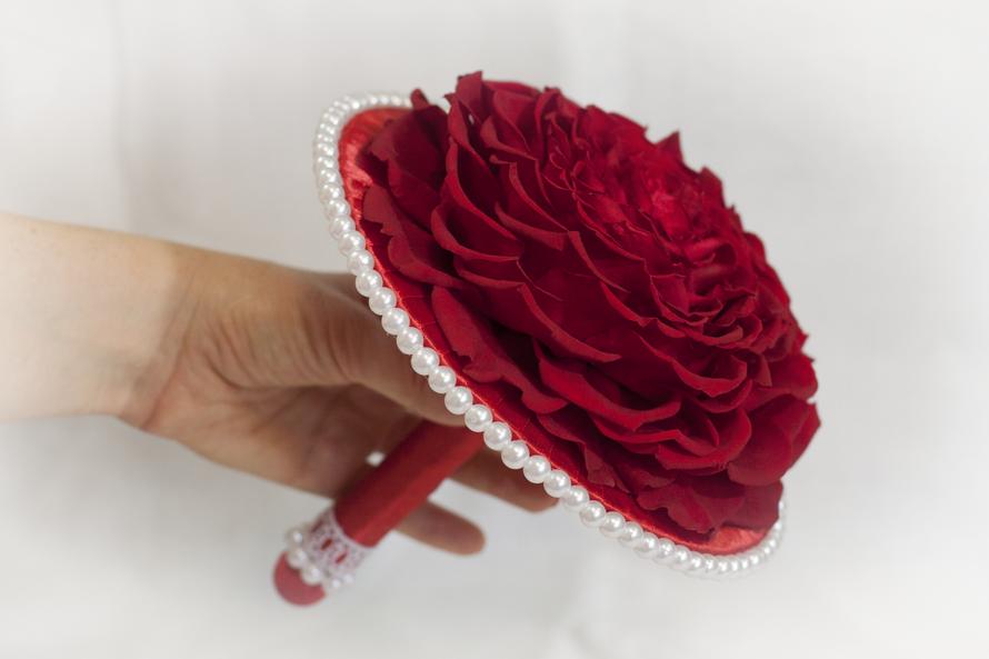 Букет невесты. Прекрасная розамелия из стабилизированных роз. - фото 2798103 Студия флористики и дизайна Floraison