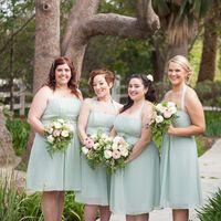 Свадебный фотограф в Калифорнии подружки невесты и цвет мяты
