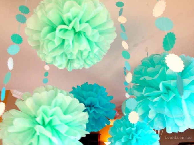 Цветы и помпоны из бумаги