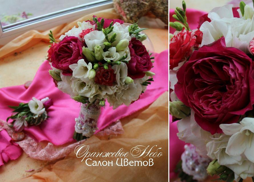 Пионовидная роза и фрезия - фото 2929755 Студия флористики и декора Оранжевое Небо