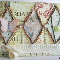 открытка в стиле Шбби-шик Пригласительная открытка на свадьбу