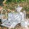 свадебный пикник в лесу в стиле шебби шик