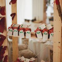 План рассадки гостей - баночки с яблочным вареньем от будущей тещи