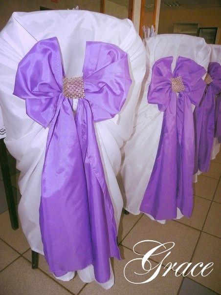 чехлы с бантиками на стульях гостей - фото 2836967 Студия свадебного декора Grace