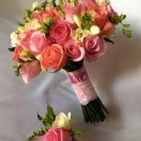 Букет невесты в нежных розовых пастельных тонах
