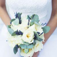 Ароматный букет невесты из роз Д.Остина, лаванды и эвкалипта
