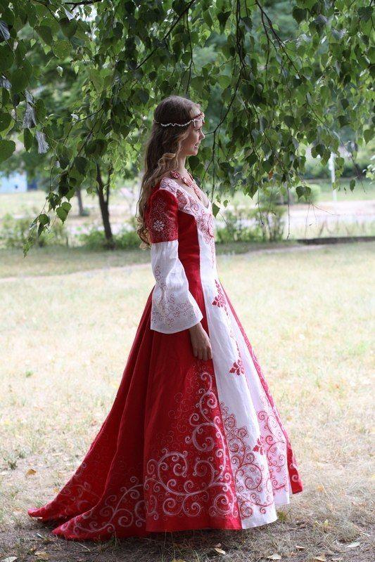 Свадебное платье на руси фото