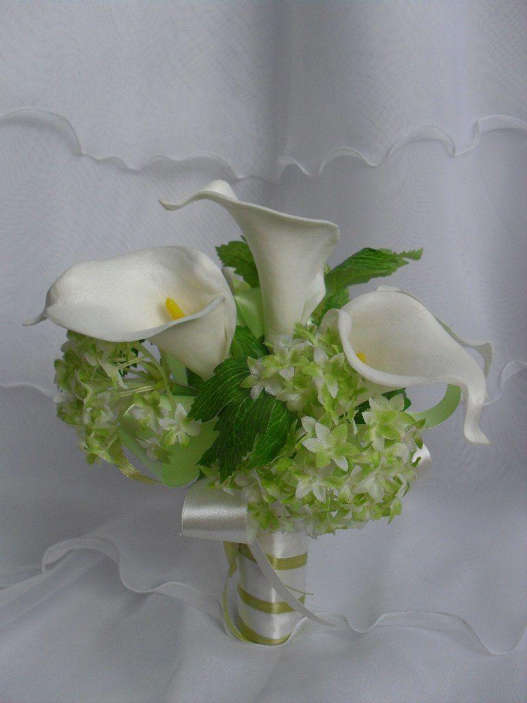 Цветы оптом, букет с каллами и гортензией
