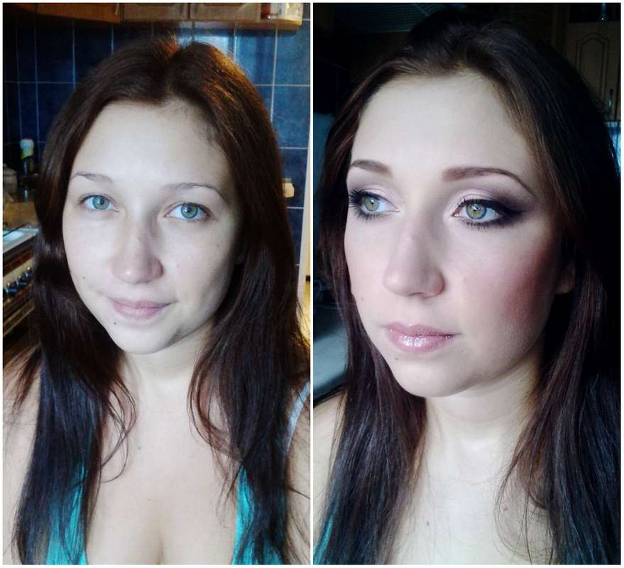 Макияж невесты до и после. - фото 2907239 Визажист Виктория Вишня
