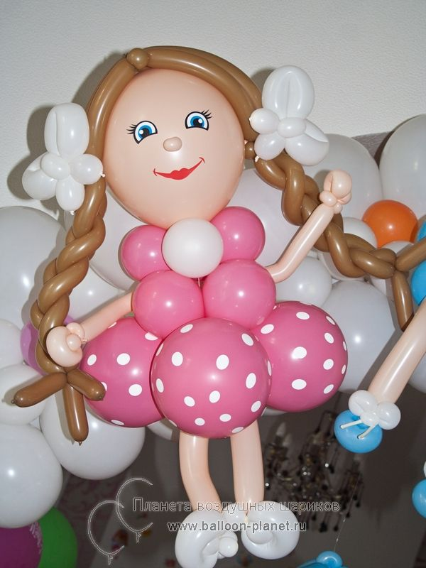 Подарки из воздушных шаров для девочек 554