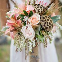 нежный букет невесты в пастельных тонах