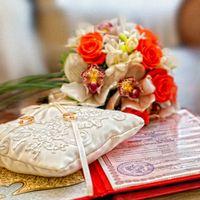 Подушечка для колец на свадьбе Дениса и Лены 2012