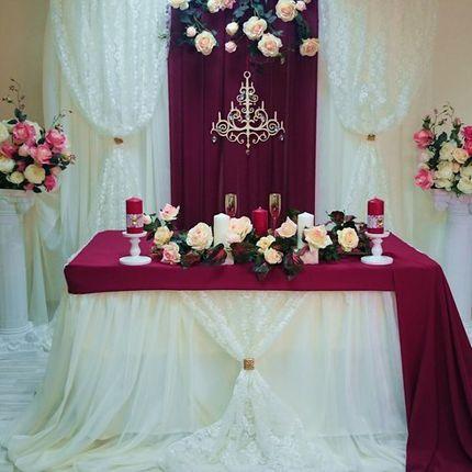 Оформление зала для зимней свадьбы