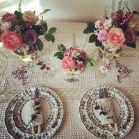 Композиция стола невесты и жениха
