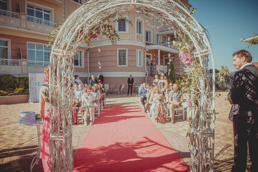Арка с гортензией и кристалами - фото 2961567 Kalina Floral - оформление свадьбы