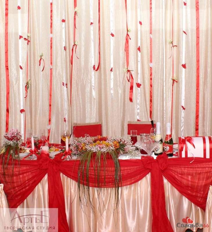 Украшения зала на свадьбу своими руками в красном цвете 28