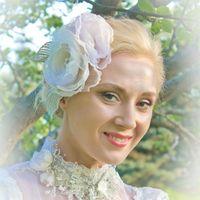 колье невесты в винтажном стиле из кружева и бисера  дизайнерские аксессуары Алины Ё