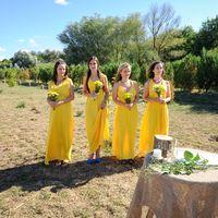Подружки невесты в желтом