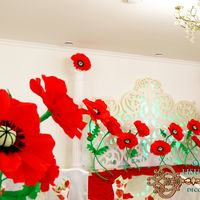 сочетания оформление юбилея красными маками фото гриба