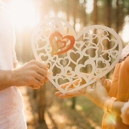 Ажурное деревянное сердце. Прокат