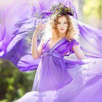 Подружка невесты в сиреневом-лесная фея