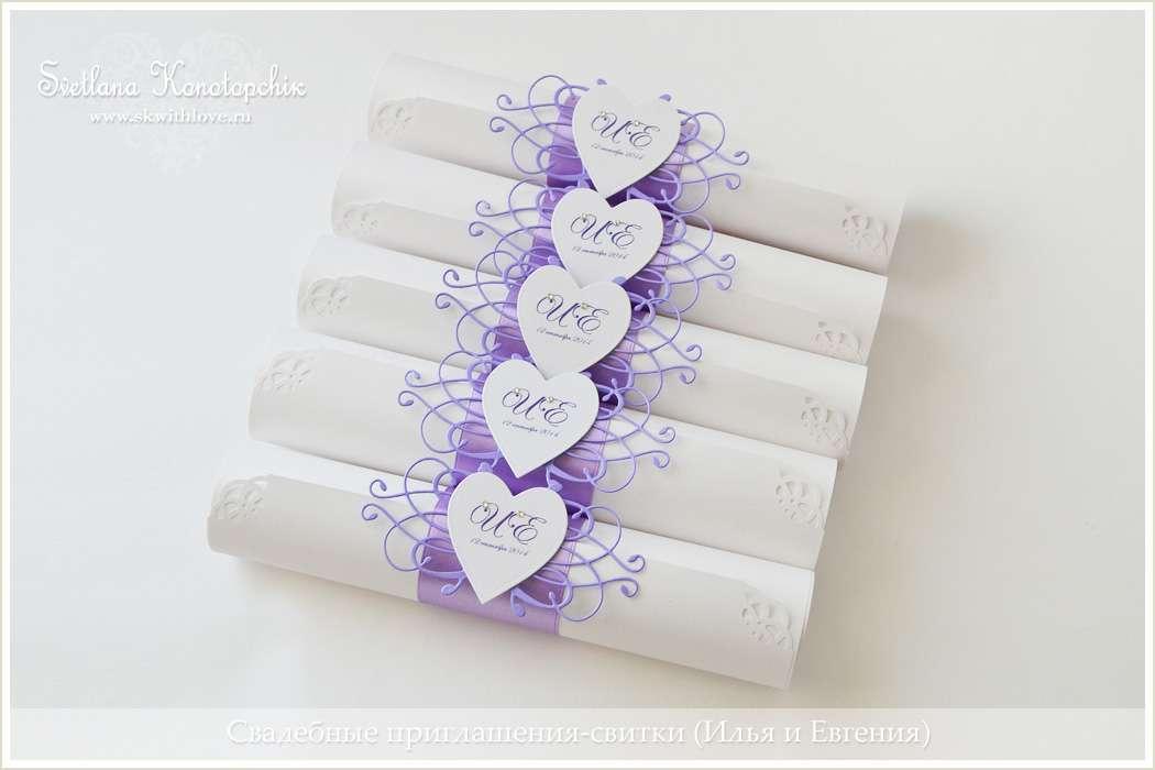 Пригласительные-свитки на свадьбу своими руками