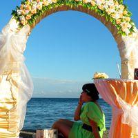 Подготовка к выездной церемонии на берегу Черного моря. Ведущая Ольга Дёмина