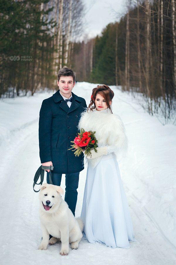 Зимняя свадебная фото сессия, февраль 2015г. - фото 4082417 Цветочная мастерская Екатерины Ширяевой
