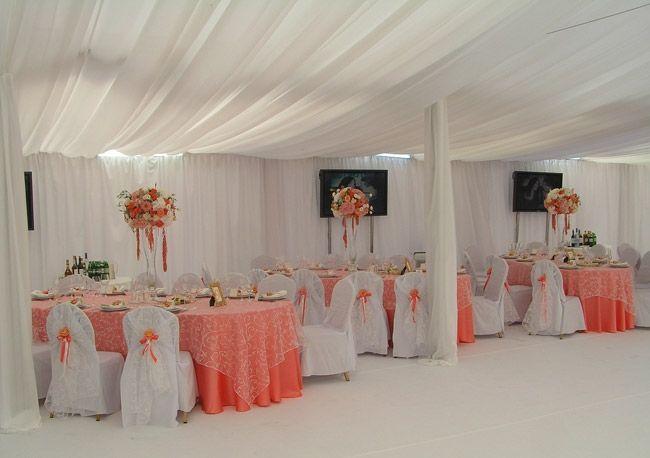 Нежное оформление шатра на свадьбу - фото 3174803 ЭкоDekor - декор свадеб