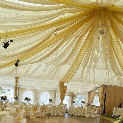 Декор шатра тканями