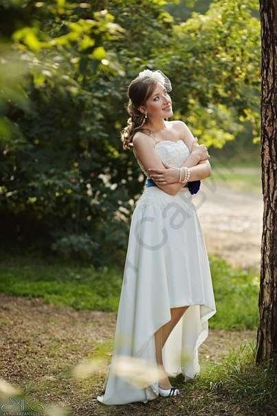 Нежное платье из шифона, с кружевным корсетом и поясом с цветком ручной работы на невесте Элеоноре! - фото 14892592 Свадебный салон Юлии Савиной