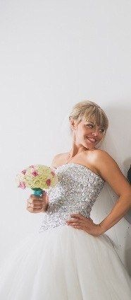Сказочное платье на невесте Елене! Корсет усыпан камнями и стразами. - фото 14892642 Свадебный салон Юлии Савиной