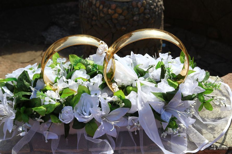 Кольца для свадебной машины мастер класс