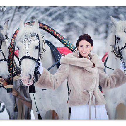 Катание на свадебной тройке лошадей