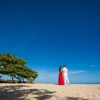 жених и невеста, съемка в Доминикане,  пляж Макао