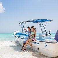 жених и невеста, съемка в Доминикане,  остров Саона,  любовь, океан, лодка