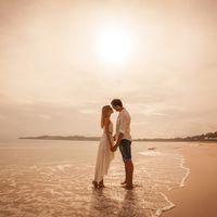 жених и невеста, съемка в Доминикане,  пляж Макао, океан, поцелуй, любовь